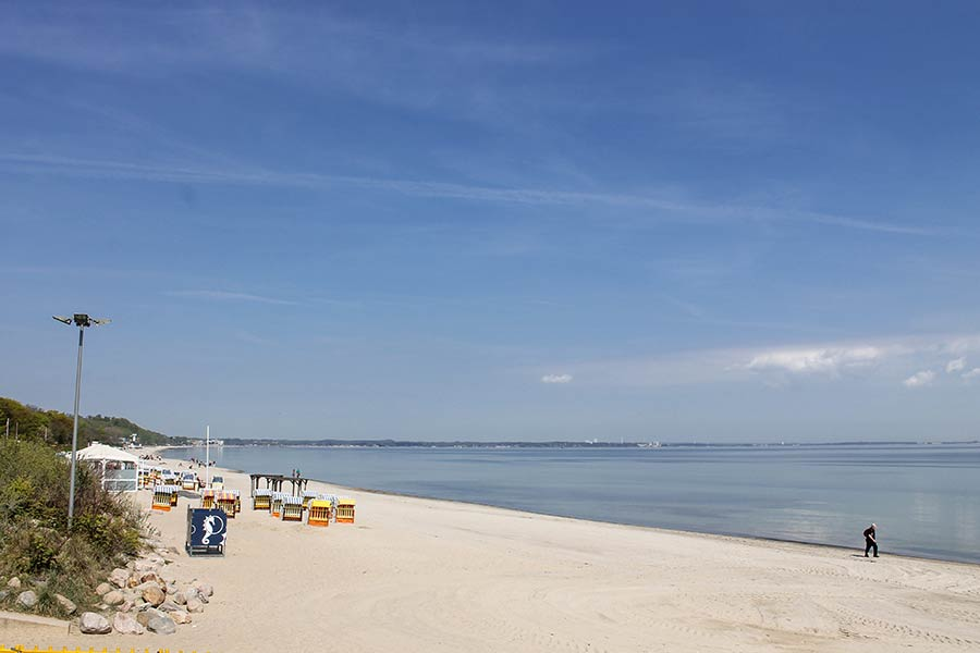 Feiner Sandstrand im Urlaub in Timmendorfer Strand